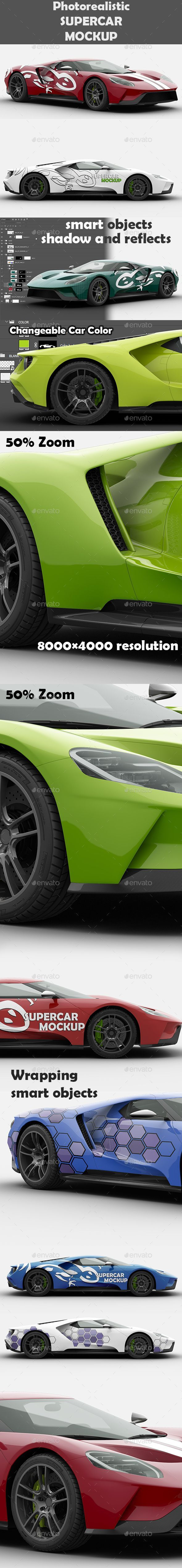 , Supercar Ford GT Mock-Up. Professional fully editable vehicle wrap mockup. #desi... , Supercar Ford GT Mock-Up. Professional fully editable vehicle wrap mockup. #design #identity #mockup #ProductDesign #CarDesign...