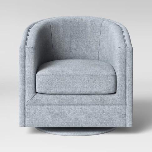 Berwick Barrel Swivel Chair Gray Threshold Swivel Chair
