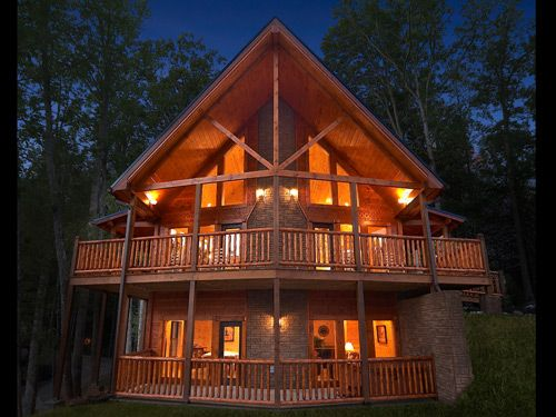 Eagles Nest Luxury 3 Bedroom Gatlinburg Cabin Rental Is Located In Elk  Springs Resort And Has A Home Theater Room And Sauna.