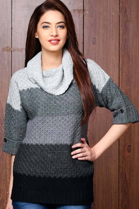 d60f633aff Western Party Dresses Winter Collection for Ladies. Zeen Cambridge Sweaters    Cardigan Collection 2015-2016 for Girls
