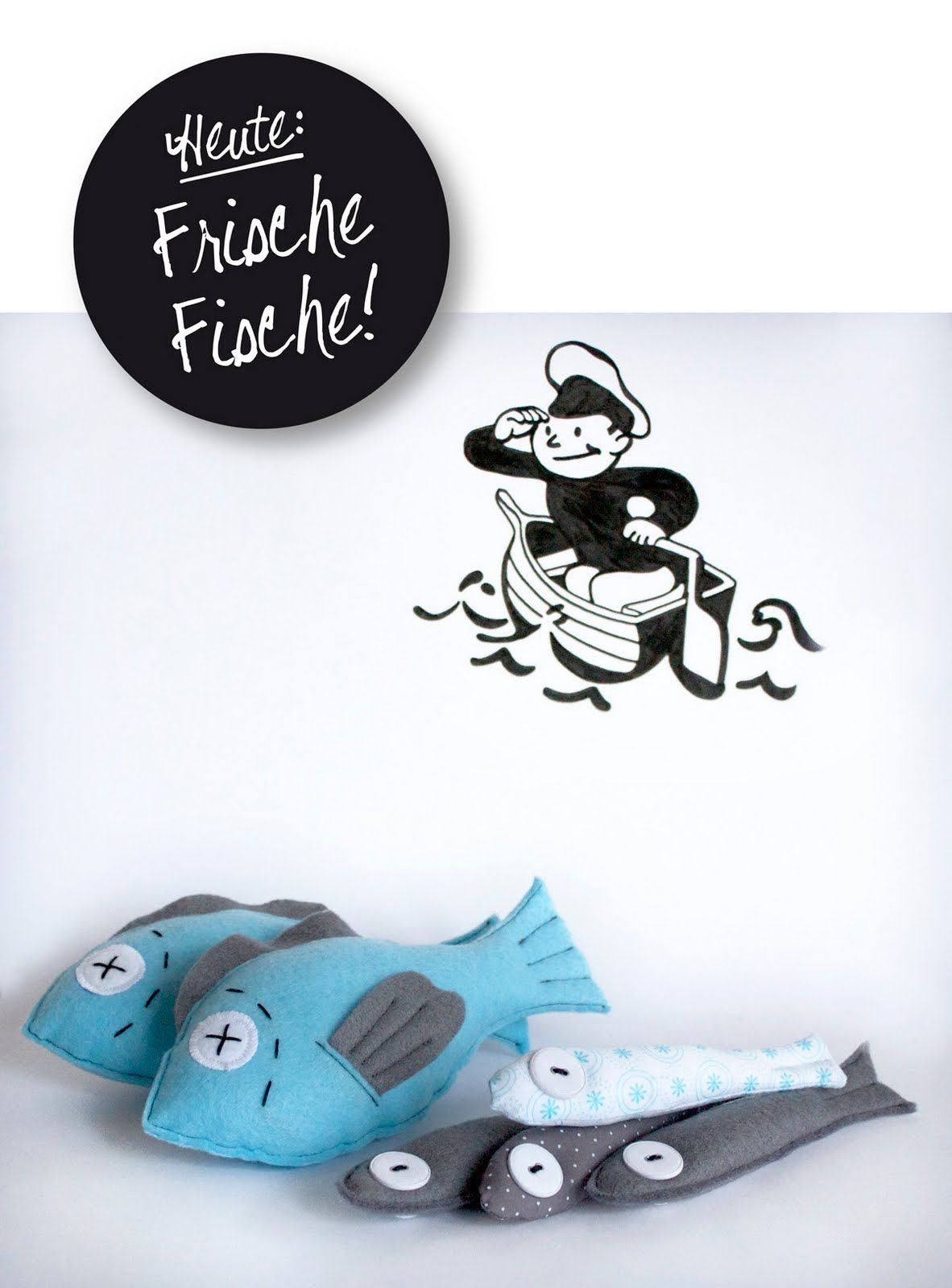 raumdinge kaufladenzubeh r selber machen nr 6 fische aus filz kaufladenzubeh r wolle. Black Bedroom Furniture Sets. Home Design Ideas