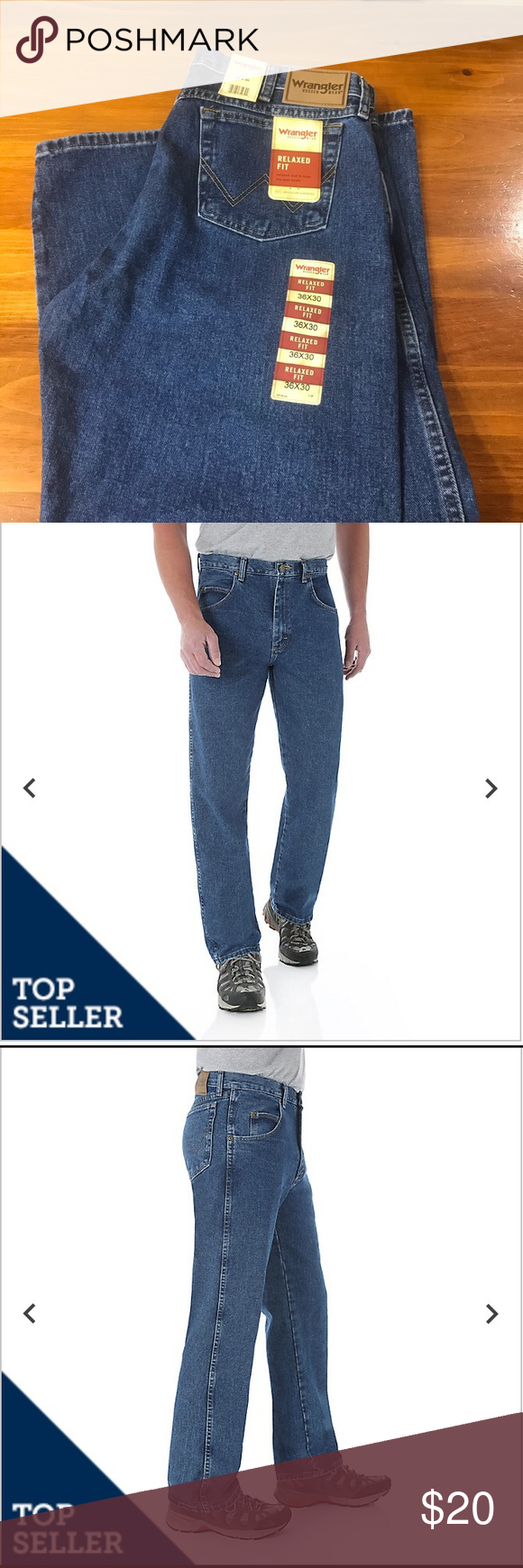 Wrangler Rugged Wear Relaxed Fit Jeans In 2020 Relaxed Fit Jeans Jeans Fit Clothes Design