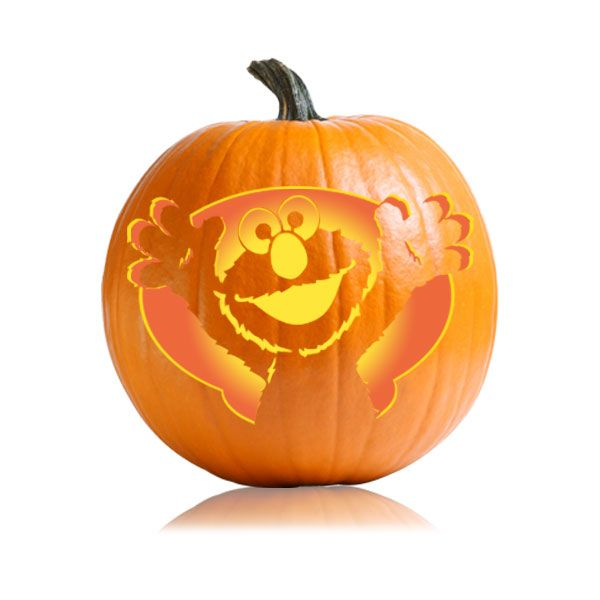 pumpkin template no stem  Sesame Street - Elmo Pumpkin Pattern | Pumpkin carving ...