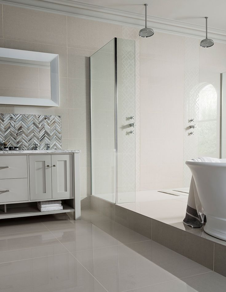 Luxury XL tiles to create a seamless wet room