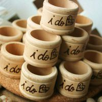 Rustic Wedding Decorations Set of 50 i do personalized Napkin Rings | PrinceWhitaker - Wedding on ArtFire