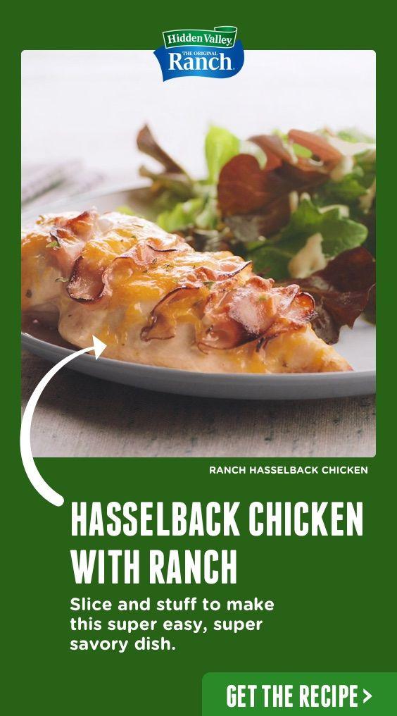 Ranch Hasselback Chicken #hasselbackchicken