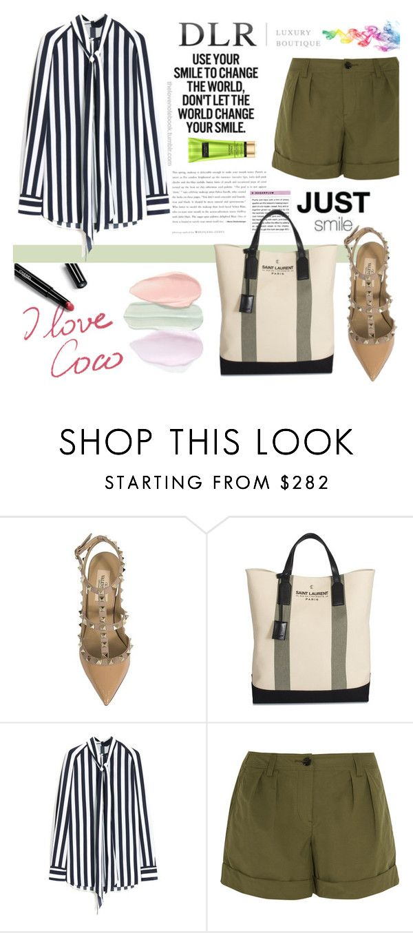 """DLR LUXURY BOUTIQUE"" by beenabloss ❤ liked on Polyvore featuring Valentino, Yves Saint Laurent, Mulberry, Burberry, Chanel and dlrboutique"