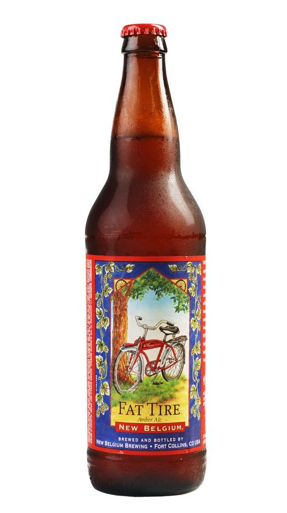 Fat Tire, Amber Ale 5,2 % ABV (New Belgium Brewing Company ...