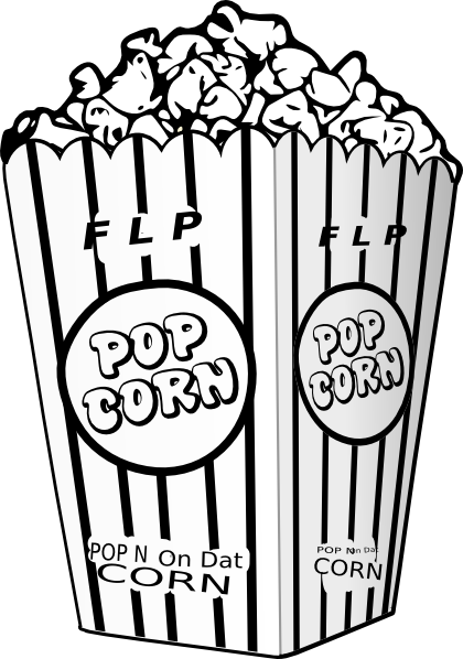 Vector Clip Art Online Royalty Free Public Domain Coloring Pages Colored Popcorn Coloring Sheets