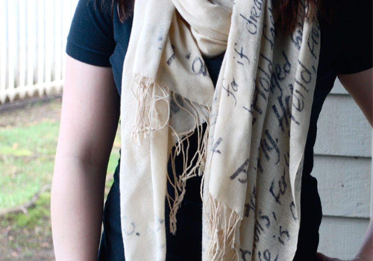 Tipsdiy Fashion chic printed word scarf