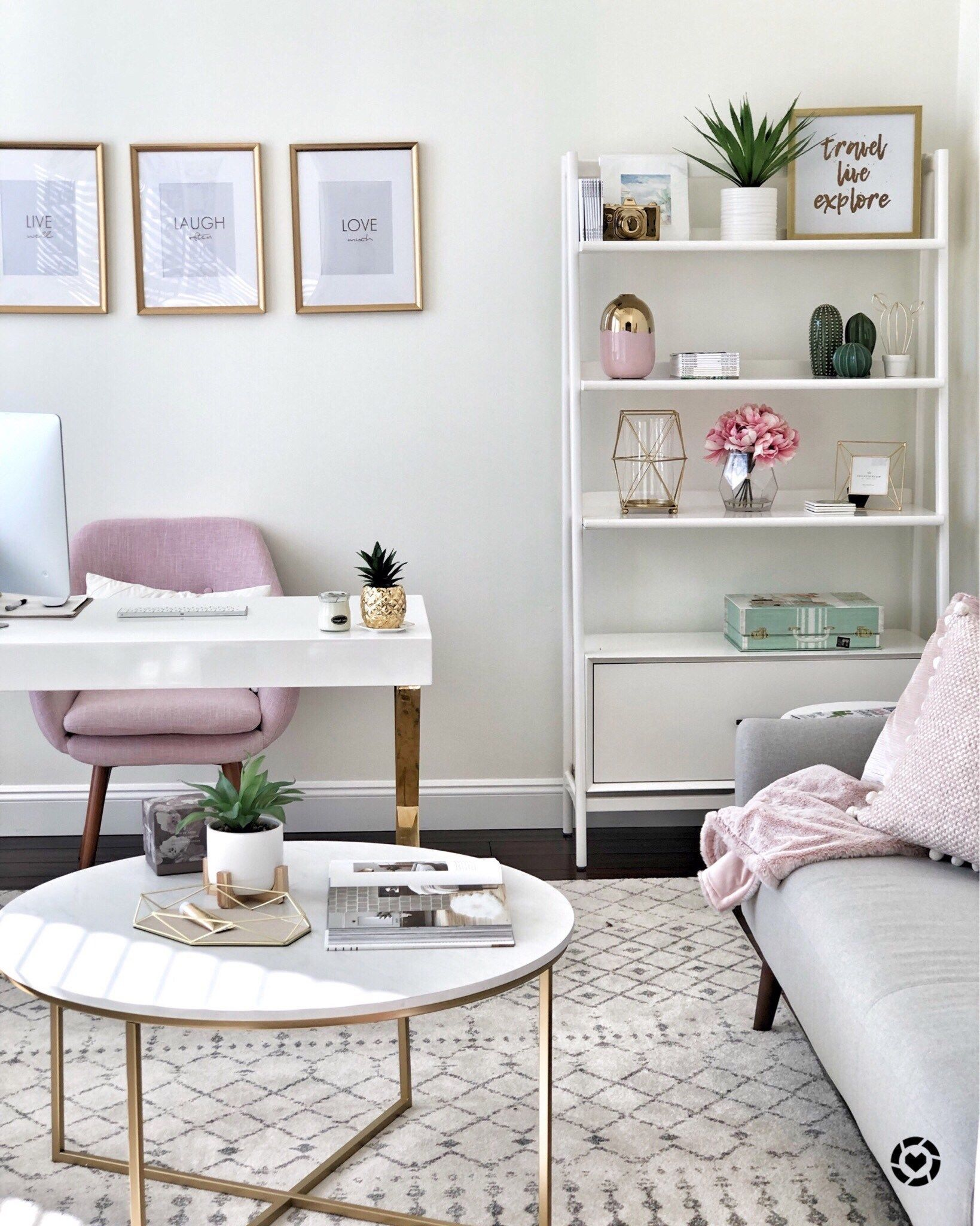 How To Create A Chic And Cozy Home Office Space! • This