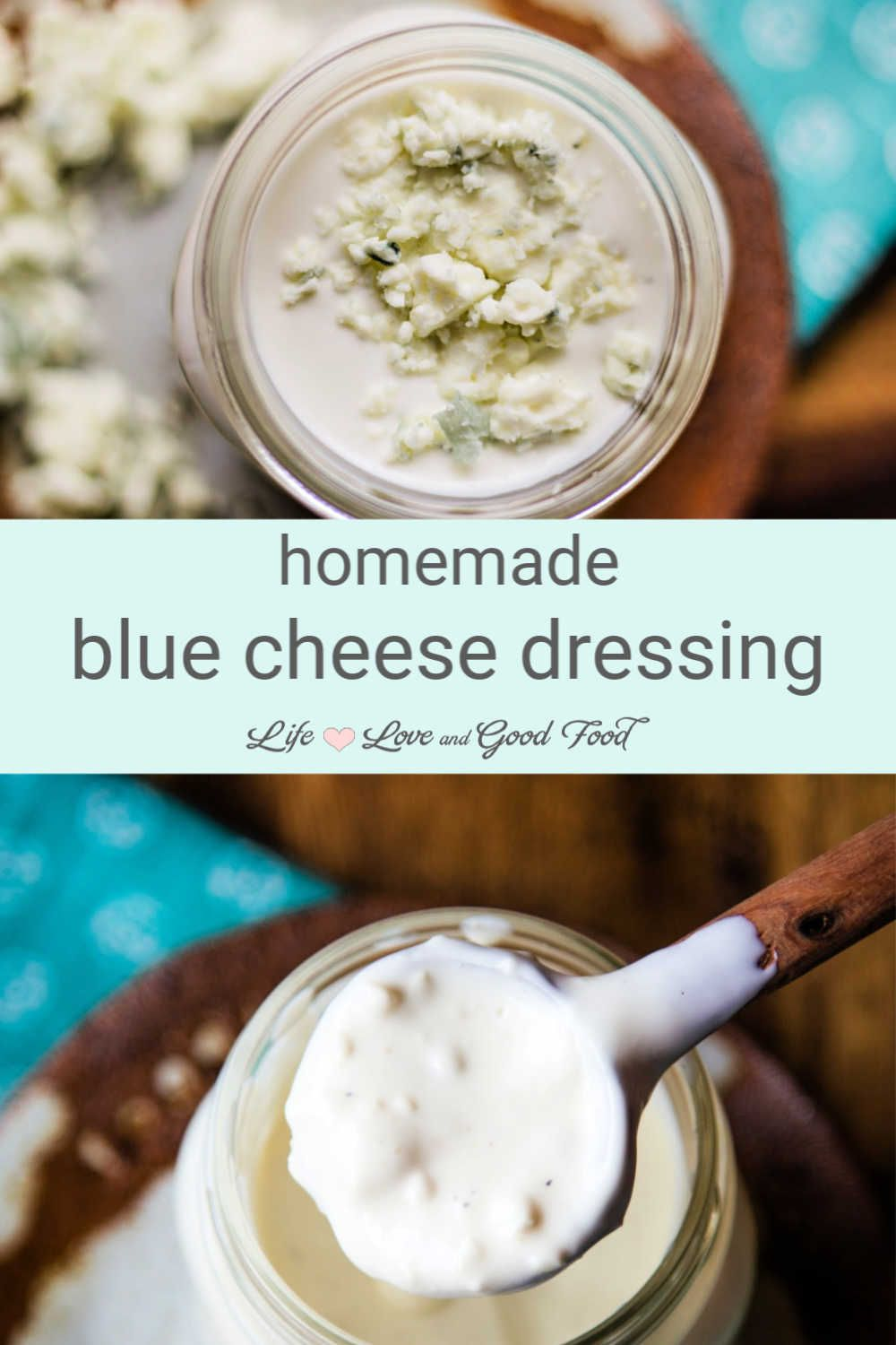 Homemade Blue Cheese Dressing With Buttermilk In 2020 Blue Cheese Dressing Recipe Blue Cheese Dressing Food
