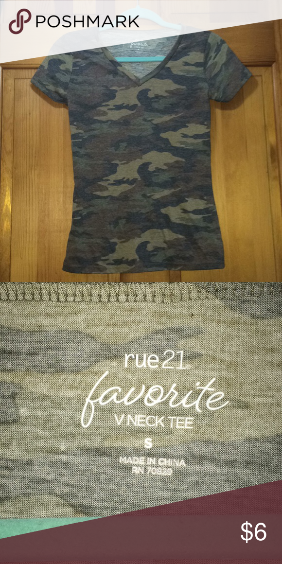 6ff147f7 Cute Camo T-Shirt! Rue21. Camouflage! Size small! Only worn to try it on!  Trades and offers welcome!❤ Rue21 Tops Tees - Short Sleeve