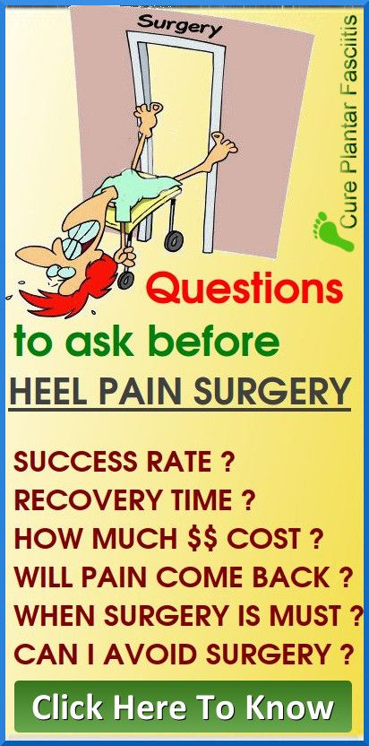 Plantar Fasciitis Surgery Success Rate And Recovery Time Plantar