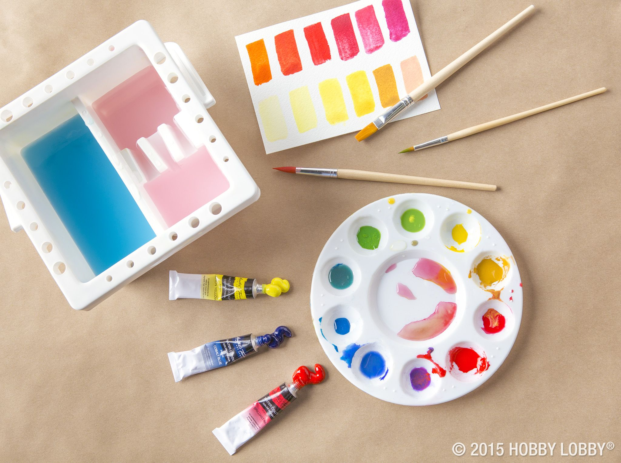 Create Your Own Watercolor Workstation With A Palette A Few Tubes