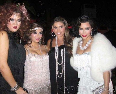 kim-kardashian-eva-longoria-birthday-party, love the hair and accessories