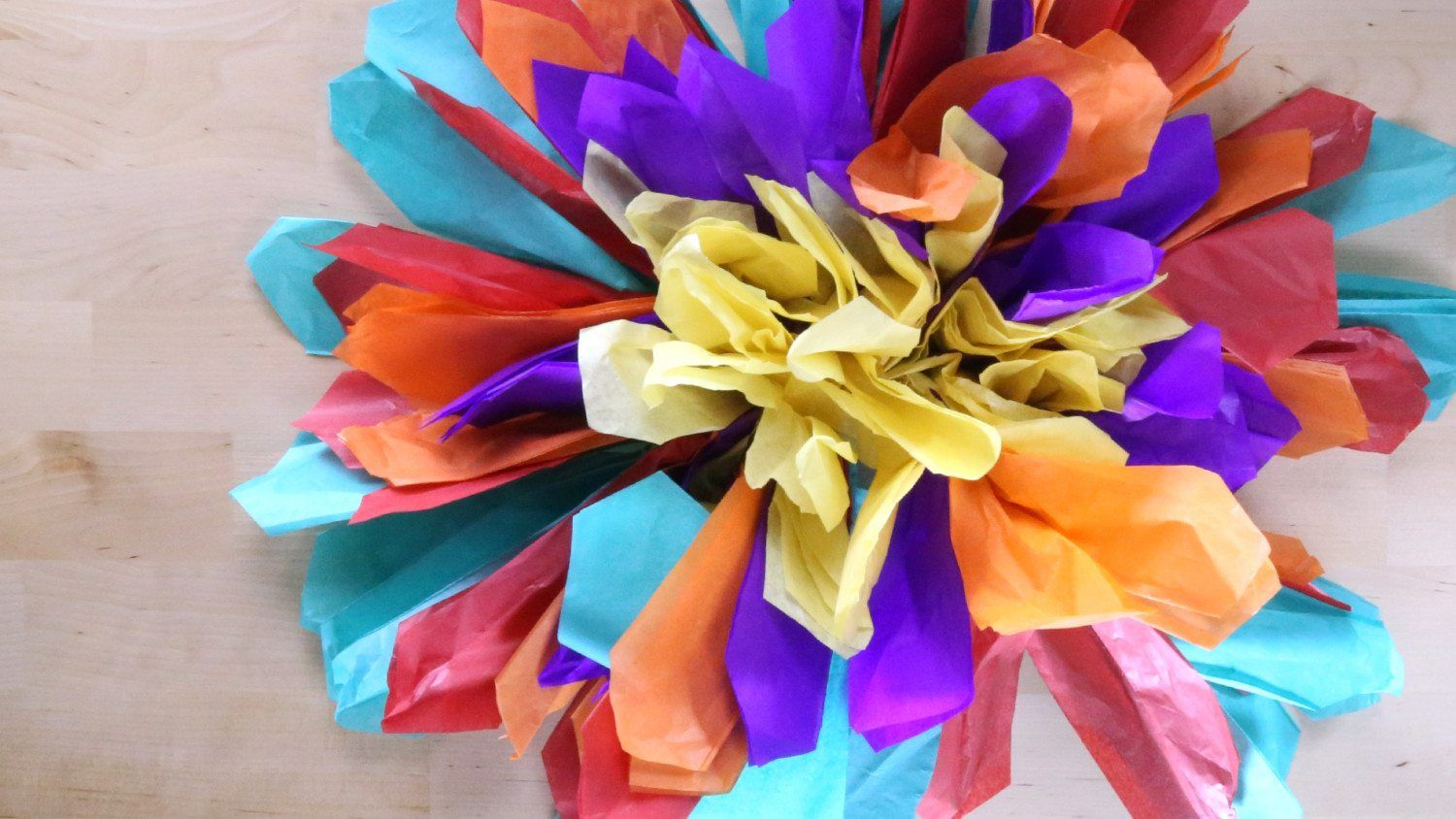 How To Make Your Own Festive Paper Flowers Video Flowers Craft