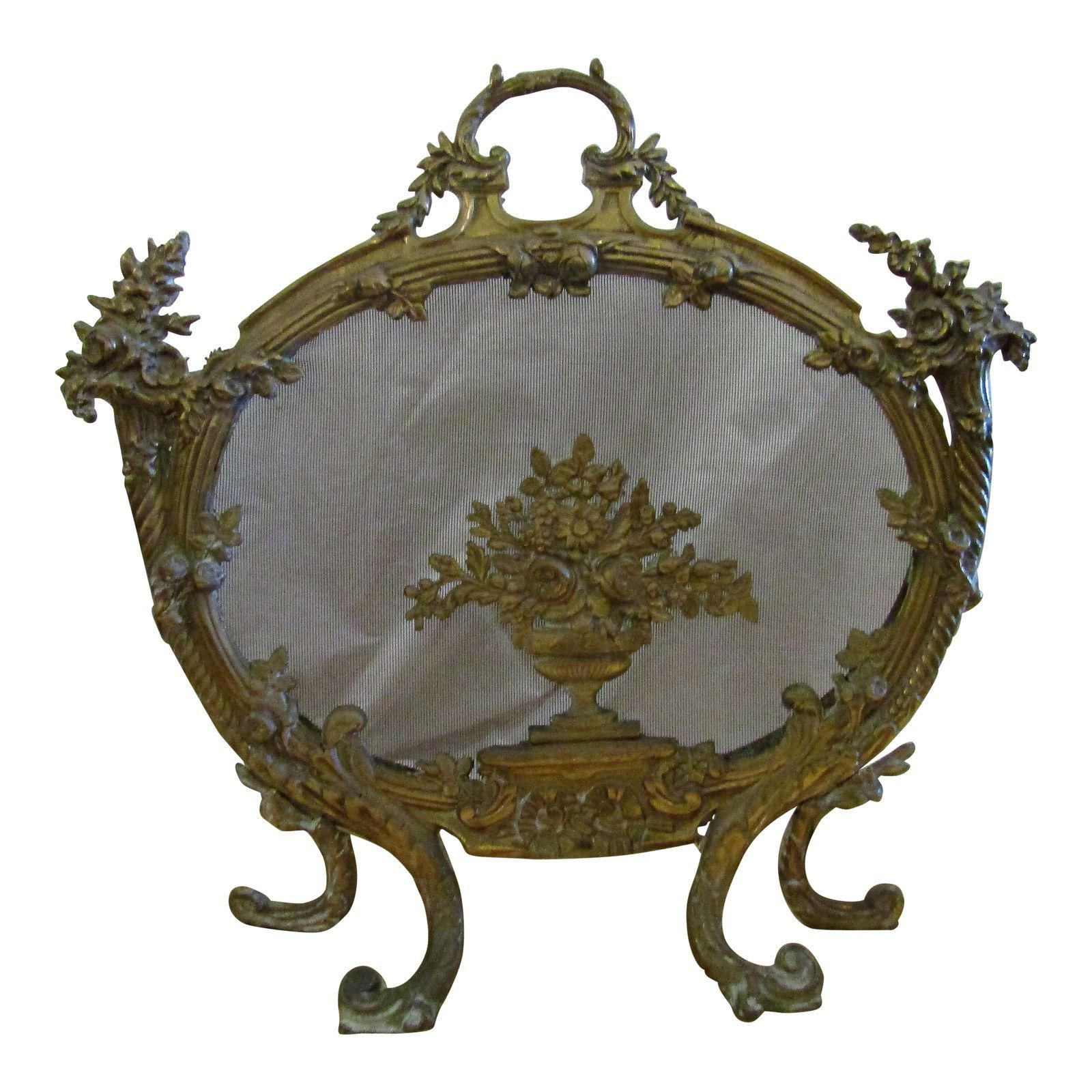 Image of Antique French Rococo Style Cast Bronze Bird's ...