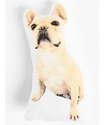 ALBERT THE FRENCH BULLDOG PILLOW, $24, URBANOUTFITTERS.COM