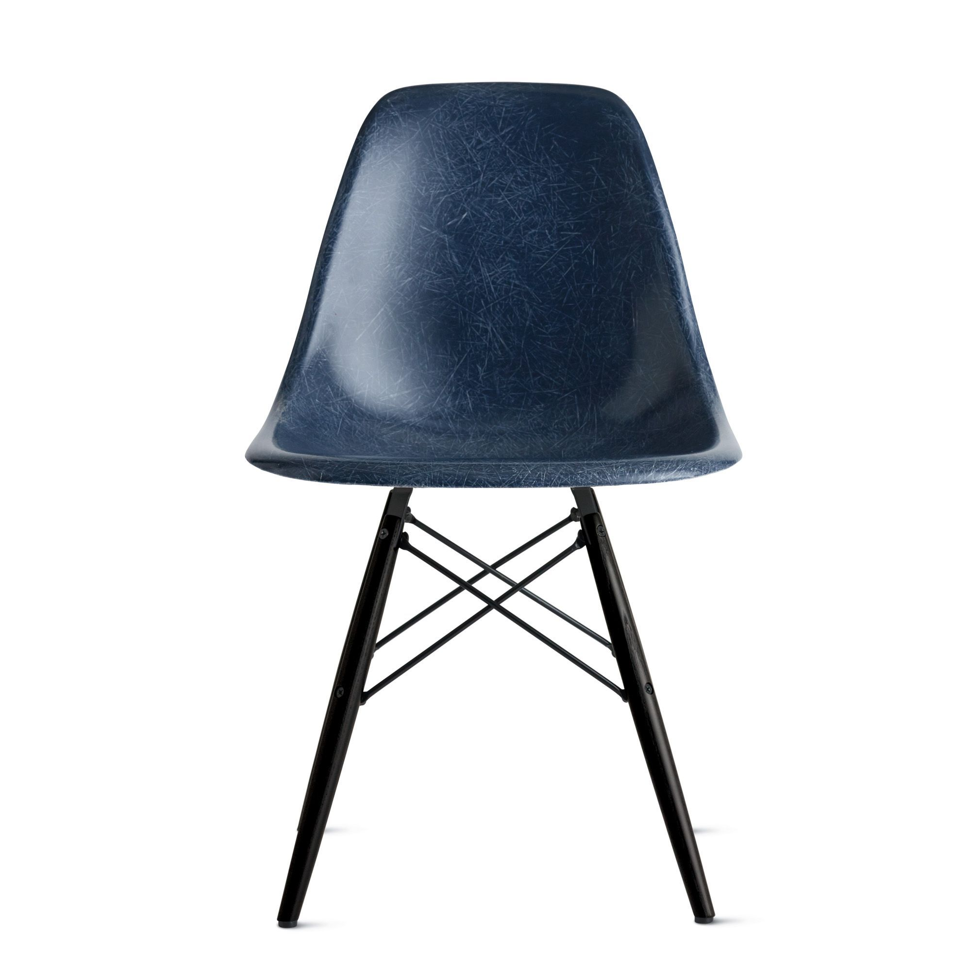 Eames® Molded Fiberglass DowelLeg Side Chair (DFSW