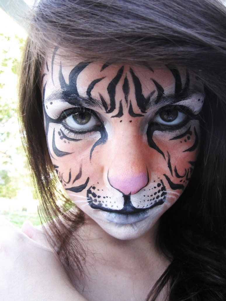Easy face painting fast faces tiger mask face painting
