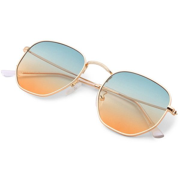 68303d8270a SheIn(sheinside) Ombre Lens Sunglasses (120 ARS) ❤ liked on Polyvore  featuring