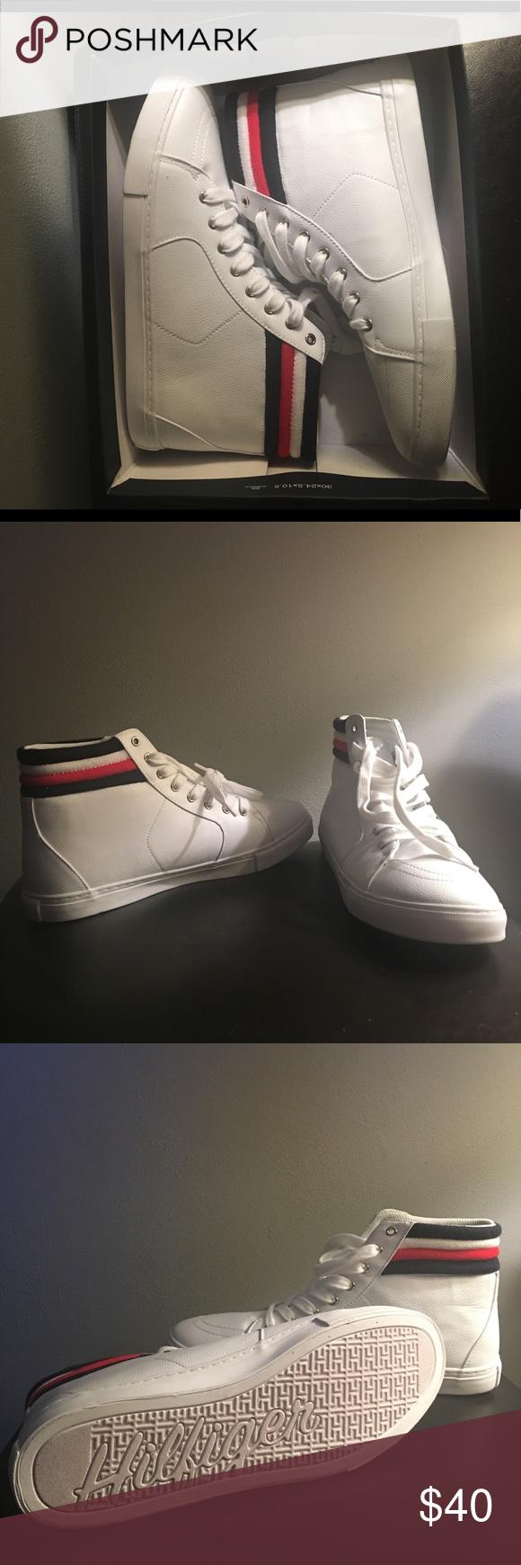 368527b5dde1f Tommy Hilfiger Lowgen Sneaker Tommy Hilfiger Women s Lowgen Hightop Sneaker  Slightly worn but in great condition Women s Size 11M Tommy Hilfiger Shoes  ...