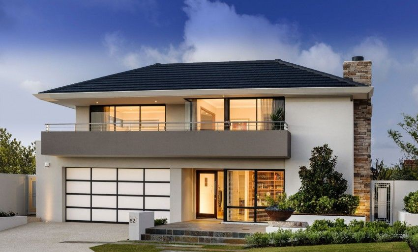 Fachada De Casas Modernas De Dos Pisos   ALOjamiento De IMágenes | Ideas  Para El Hogar | Pinterest | House, House Facades And House Building