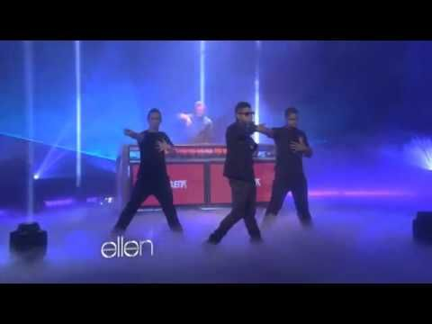 "David Guetta and Usher  ""Without You"" on Ellen:  1:30 and 2:56"