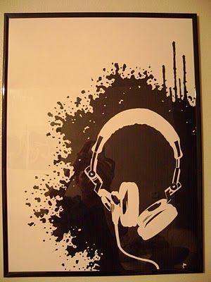 Canvas Art Ideas Cool Art Stuff Pinterest Music Painting Canvas Splatter Art Art