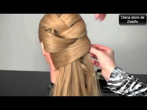 5 Peinados Faciles Y Rapidos Con Cabello Suelto Con Trenzas   Peinado 2015 - 2016 ♥ Yencop - YouTube