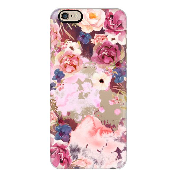 iPhone 6 Plus/6/5/5s/5c Case - Pink maroon flower watercolor boho... (140 BRL) ❤ liked on Polyvore featuring accessories, tech accessories, iphone case, slim iphone case, floral iphone case, apple iphone cases and iphone cover case