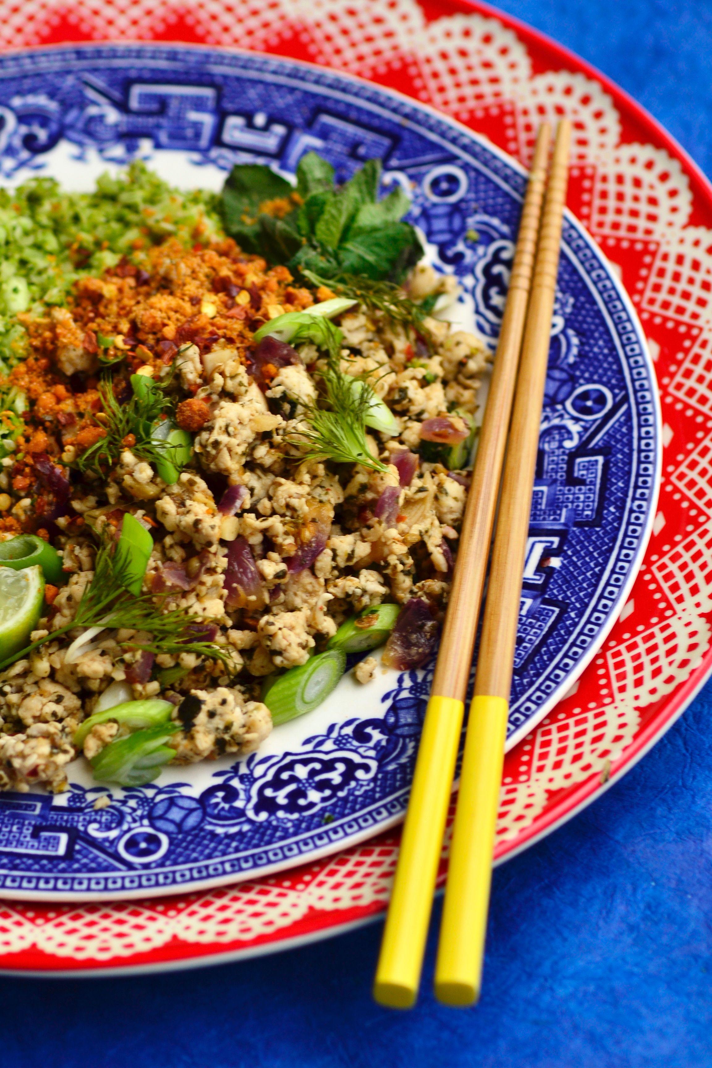 "Thai Turkey Laab with Broccoli ""Rice""   GastroGays ..."