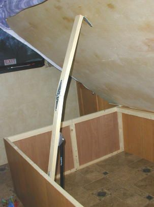 Helping Hold Open Front Storage Under Bed Camping Travel Trailer Camping Camper Storage