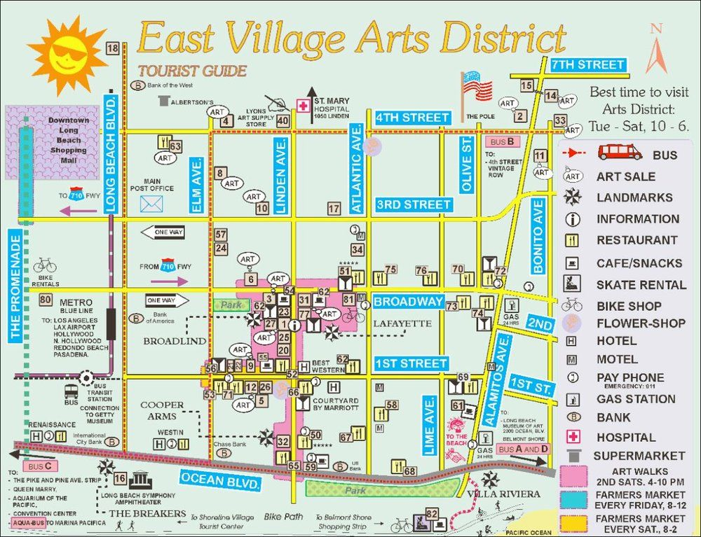 Long Beach East Village Arts District Google Search