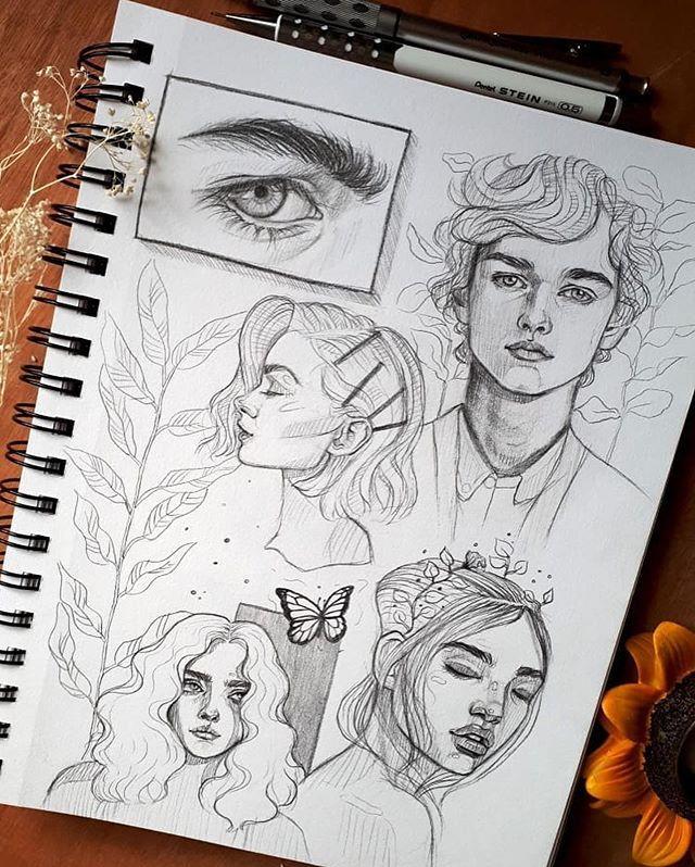 Рисунки парней для скетчбука
