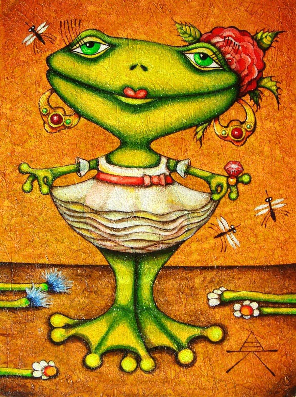Смешная картинка, открытки лягушек