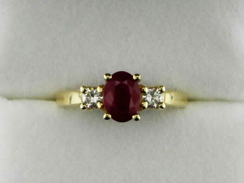 Diamond And Oval Ruby Ladies Ring Available At John Wallick Jewelers In Sun City Arizona Near Phoenix Az John Wallick Jewelers Jewelry Website Silver Topaz Selling Jewelry