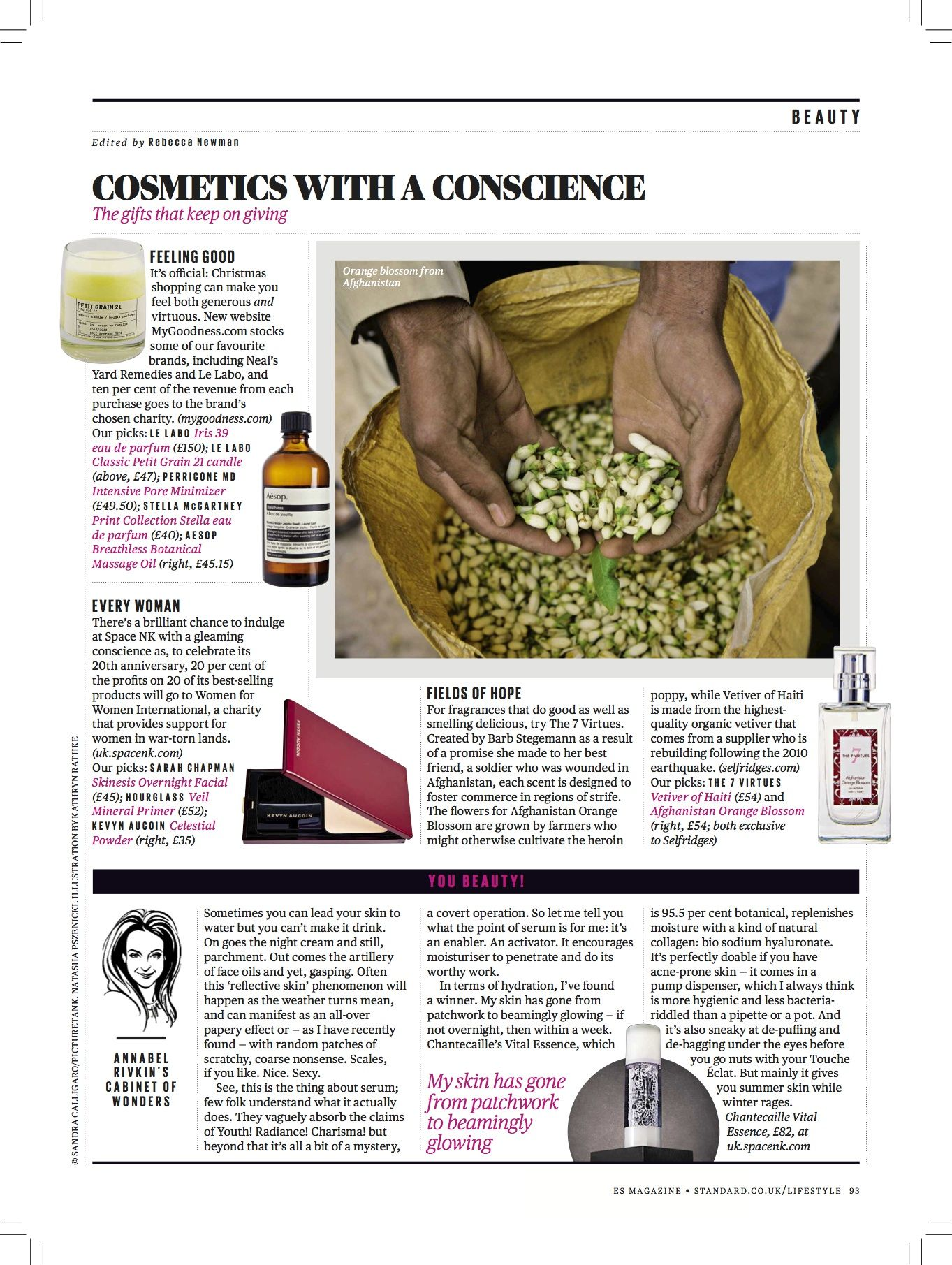 8498c051edec Our fragrance story of empowerment in the Evening Standard Magazine ...