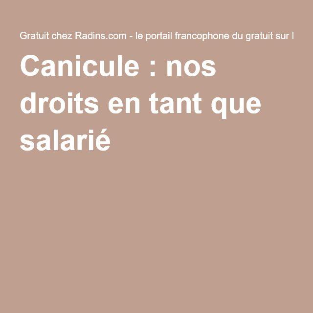 Canicule:nos droits en tant que salarié