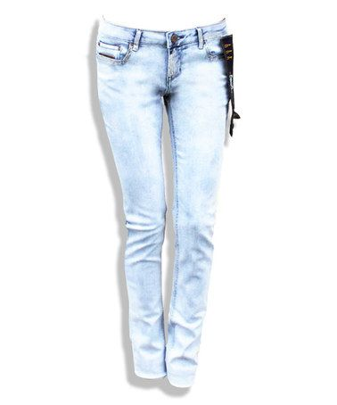 Another great find on #zulily! Light Gray Silver Fox Slim Jeans - Women #zulilyfinds