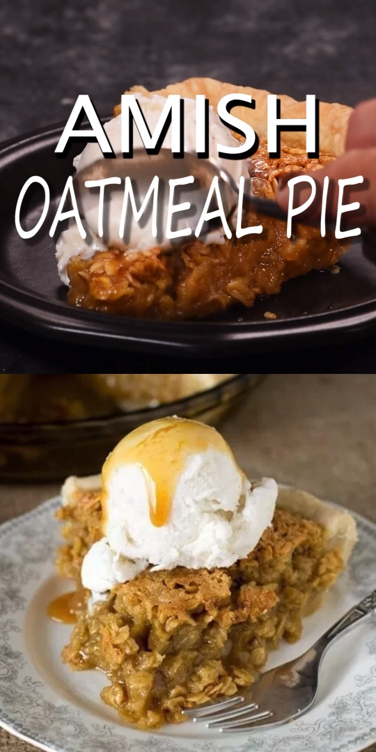 Amish Oatmeal Pie that tastes remarkably like pecan pie Brown sugar gives a deep rich flavor to this sweet simple pie that is a favorite Amish country recipe If you like...