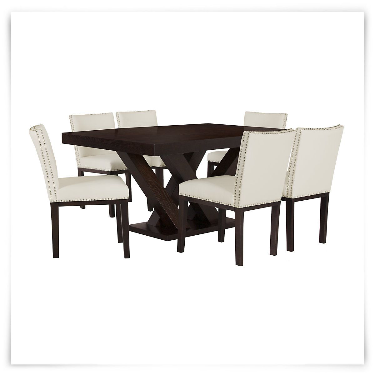 Awesome Dining Set Includes: Rectangular Table And Four Vintage Side Chairs With  Contemporary Style And A