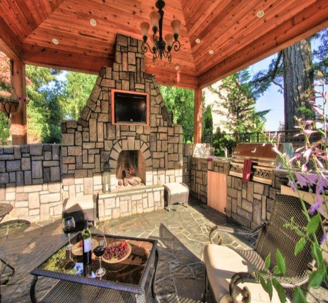 gazebo with fireplace pool gazebo fireplace designs beautiful ideas garden pinterest hornos