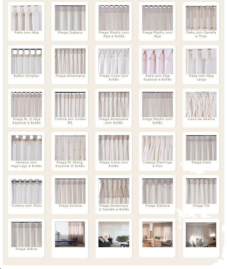 Cortinas para quarto tipos de cortina e 18 lindas ideias - Tipos de cortinas ...