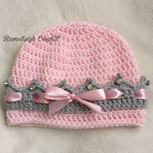 Girly Crown Hat Free Pattern Crochet For Children Girly Crown