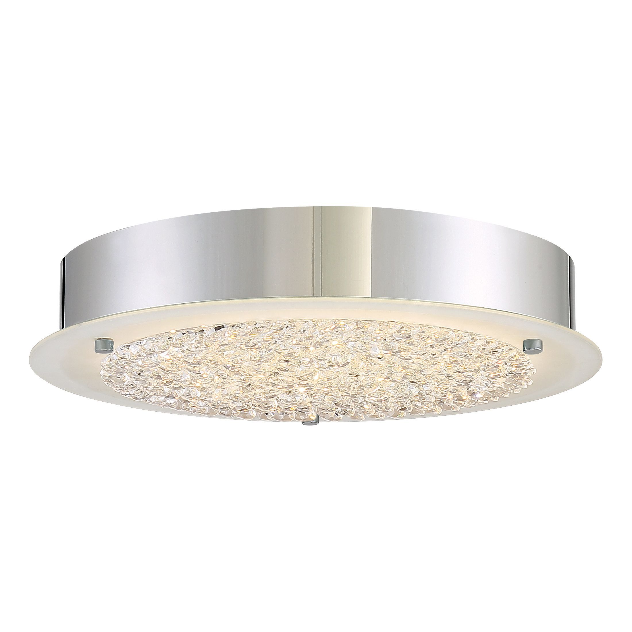 Quoizel Platinum Collection Blaze-polished Chrome Flush-mount Light ...