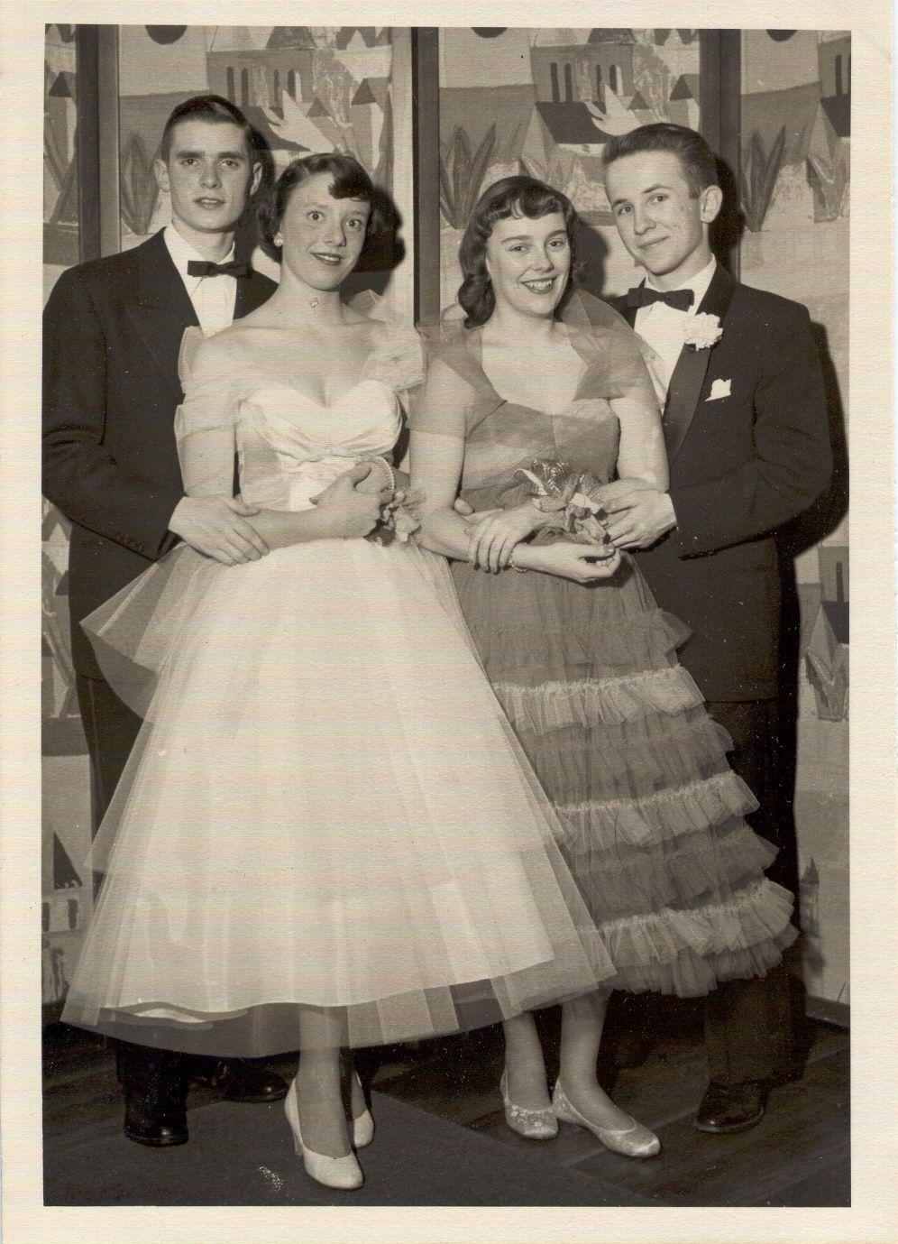 high school 1950s prom dress