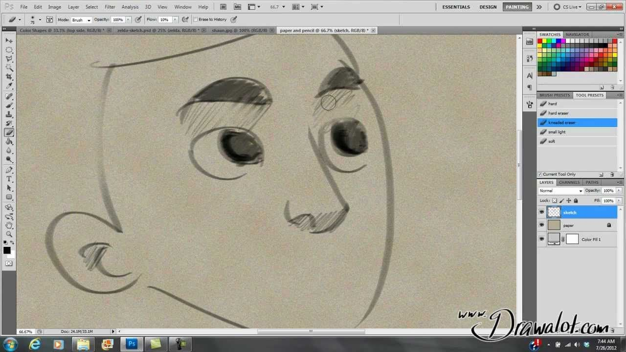 Quick & Easy: Howto make Photoshop sketching feel more like Paper &…