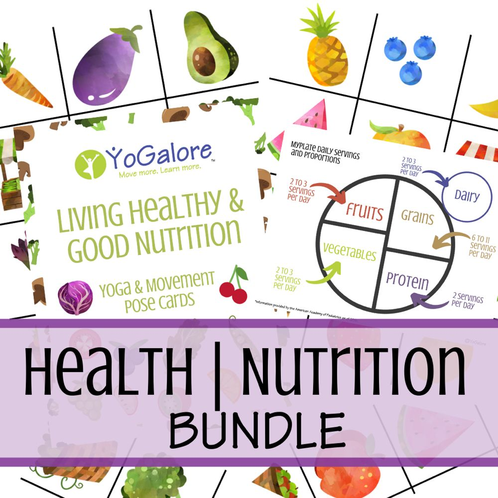 Healthy Living Nutrition Bundle with Yoga Pose Cards